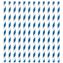 Royal Blue Paper Straws (24)